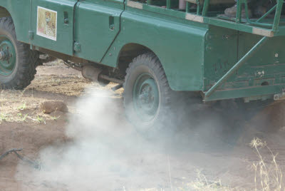 Series III scrambles across the bush