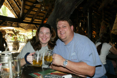 Lisa and Bill Enjoy a Beer