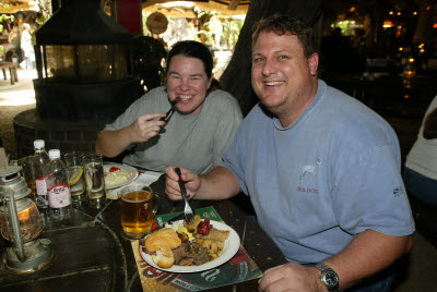 Lisa and Bill find Meat is THE Staple of the Namibian Diet.