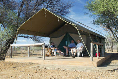 Accommodations at the Okapuka Ranch Dune Camp