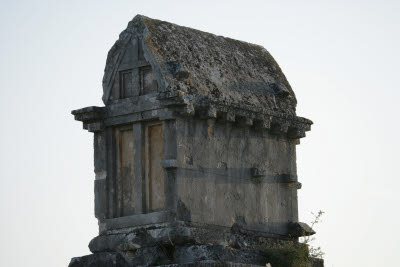 Lycian tomb in Xanthos, Turkey